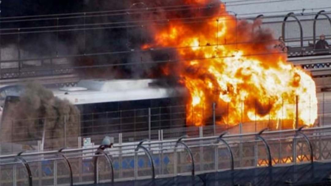 Passenger Gets Back On Burning Bus To Tap Off Opal Card