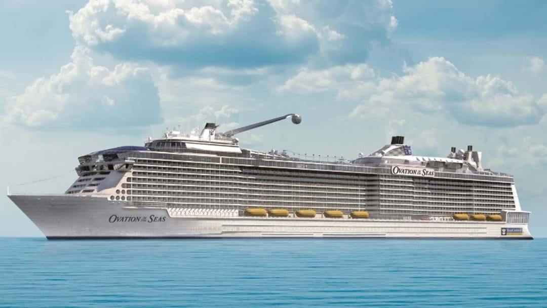 $1 Billion Ovation Of The Seas Docks In Brisbane