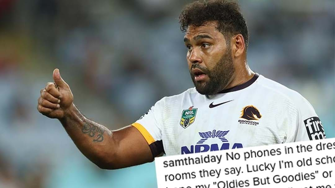 Sam Thaiday's Dropped This Tongue-In-Cheek Instagram Post